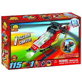 Action Town 115 Pcs Helicopter Figurines and Sets