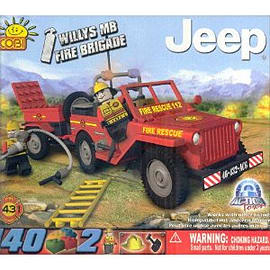 Action Town 140 Pcs Fire Jeep Figurines and Sets