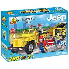 Action Town 200 Pcs Jeep Willys Construction Team Figurines and Sets