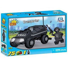Action Town 75 Pcs Police Transporter Figurines and Sets