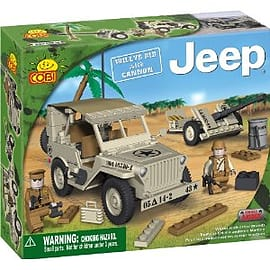 Jeep 180 Pcs Willys M38 with Cannon Figurines and Sets