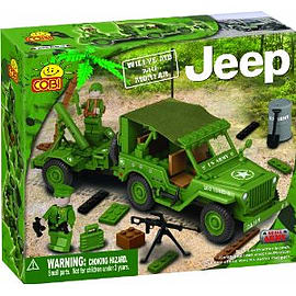 Jeep 180 Pcs Willys M38 with Mortar Figurines and Sets