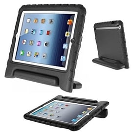 Frostycow Rubber Shock Resistant Easy Hold Children's Case For Apple iPad Air 2 Black Tablet
