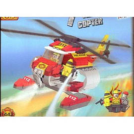 Action Town 300 Pcs Fire Copter Figurines and Sets