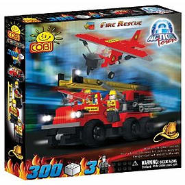 Action Town 300 Pcs Fire Rescue Figurines and Sets