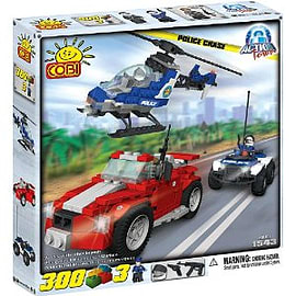 Action Town 300 Pcs Police Chase Figurines and Sets