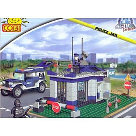 Action Town 300 Pcs Police Jail Figurines and Sets