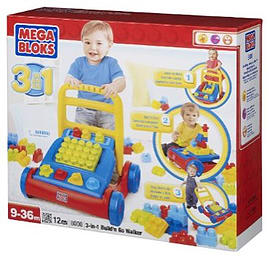 Mega Bloks 3-in-1 Build and Go Walker Figurines and Sets