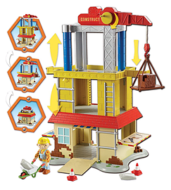 Bob the Builder Pop-Up Deluxe Construction Site Playset Figurines and Sets