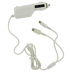 ZedLabz 12v car charger adapter for Nintendo DS Lite, DSi, 2DS & 3DS - White 3DS