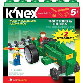 KNEX 10 Model Set Tractors and Trucks Figurines and Sets