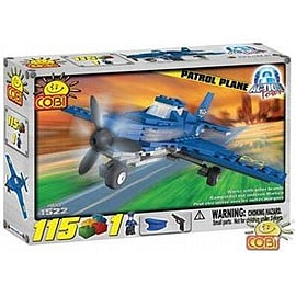 Cobi Action Town 100 Pcs Police Plane Figurines and Sets