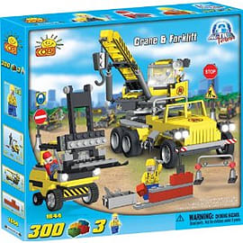 Cobi Action Town 300 Pcs Crane and Forklift Figurines and Sets
