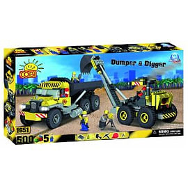 Cobi Action Town 500 Dumper and Digger Figurines and Sets