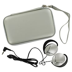 ZedLabz EVA hard travel case & headphones for Nintendo DS Lite, DSi & 3DS - Silver 3DS