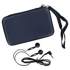 ZedLabz EVA hard travel case & headphones for Nintendo DS Lite, DSi & 3DS - Navy 3DS