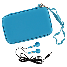 ZedLabz EVA hard travel case & headphones for Nintendo DS Lite, DSi & 3DS - Turquoise 3DS