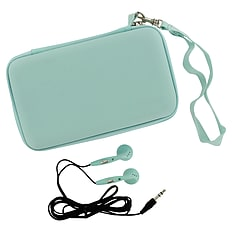 ZedLabz EVA hard travel case & headphones for Nintendo DS Lite, DSi & 3DS - Ice blue 3DS
