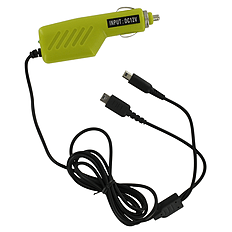 ZedLabz 12v car charger adaper for Nintendo DS Lite, DSi, 2DS & 3DS - Green 3DS