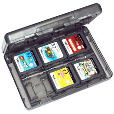 ZedLabz value game case for 3DS XL 2DS DSi DS Lite 24 in 1 box cartridge holder card storage - Black 3DS