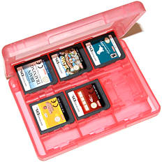 ZedLabz value game case for 3DS XL 2DS DSi DS Lite 24 in 1 box cartridge holder card storage - Pink 3DS