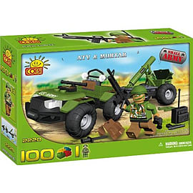 Cobi Small Army 100 Pcs Quad With Mortar Figurines and Sets