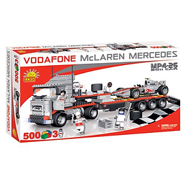 Cobi Mclaren 500 Pcs Mp4-26 2011 Car and Low Loader Figurines and Sets