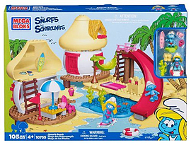 Mega Bloks The Smurfs The Beach House Blocks and Bricks