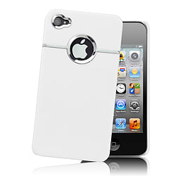 Apple iPhone 4/4s Chrome Hard Back Case - White Mobile phones