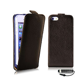 Apple iPhone 4/4s Genuine Premium Leather Wallet Case - Brown Mobile phones