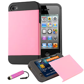 Apple iPhone 4/4s Dual Layer Smooth Shockproof Case - Hot Pink Mobile phones