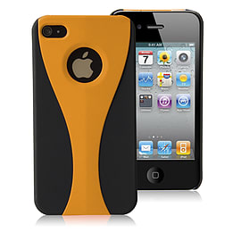 Apple iPhone 4/4s Night Cup Hard Back Case - Orange Mobile phones
