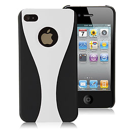 Apple iPhone 4/4s Night Cup Hard Back Case - White Mobile phones