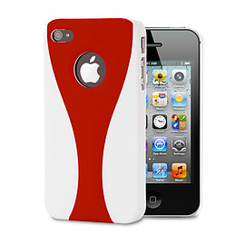 Apple iPhone 4/4s Day Cup Hard Back Case - Red Mobile phones