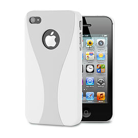 Apple iPhone 4/4s Day Cup Hard Back Case - Silver Mobile phones