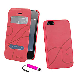 Apple iPhone 4/4s S-View Window Case - Hot Pink Mobile phones