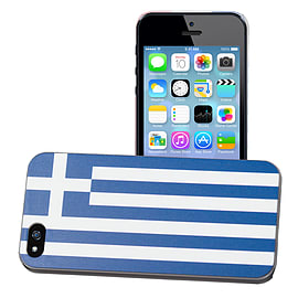 Apple iPhone 4/4s National Flag Hard Back Case - Greece Mobile phones