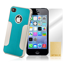 Apple iPhone 5/5s Brushed Aluminium Hard Back Case - Light Blue Mobile phones