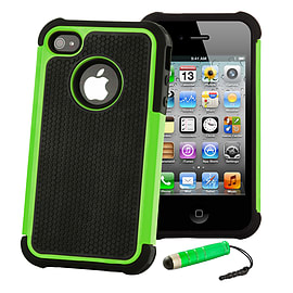 Apple iPhone 5/5s Dual-Layer Shockproof Case - Green Mobile phones