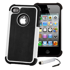 Apple iPhone 5/5s Dual-Layer Shockproof Case - White Mobile phones