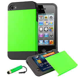 Apple iPhone 5/5s Dual-Layer Smooth Shockproof Case - Green Mobile phones