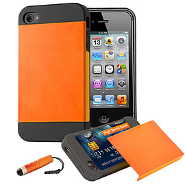 Apple iPhone 5/5s Dual-Layer Smooth Shockproof Case - Orange Mobile phones
