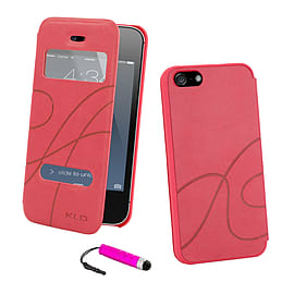 Apple iPhone 5/5s S-View Window Case - Hot Pink Mobile phones