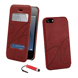 Apple iPhone 5/5s S-View Window Case - Red Mobile phones