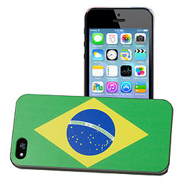 Apple iPhone 5/5s National Flag Hard Back Case - Brazil Mobile phones