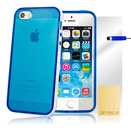 Apple iPhone 5/5s Silicone Bumper Gel Case - Blue Mobile phones