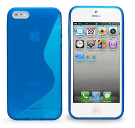Apple iPhone 5/5s S-Line Gel Case - Deep Blue Mobile phones