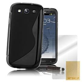 Samsung Galaxy S3 S-Line Gel Case - Black Mobile phones