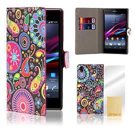 Sony Xperia Z1 Stylish PU Leather Design Book Case - Jellyfish Mobile phones