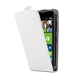 Sony Xperia Z1 Stylish PU Leather Flip Case - White Mobile phones